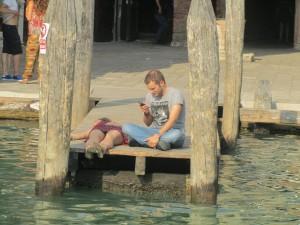 Причал в Венеции Эмилья-Романия, Италия.