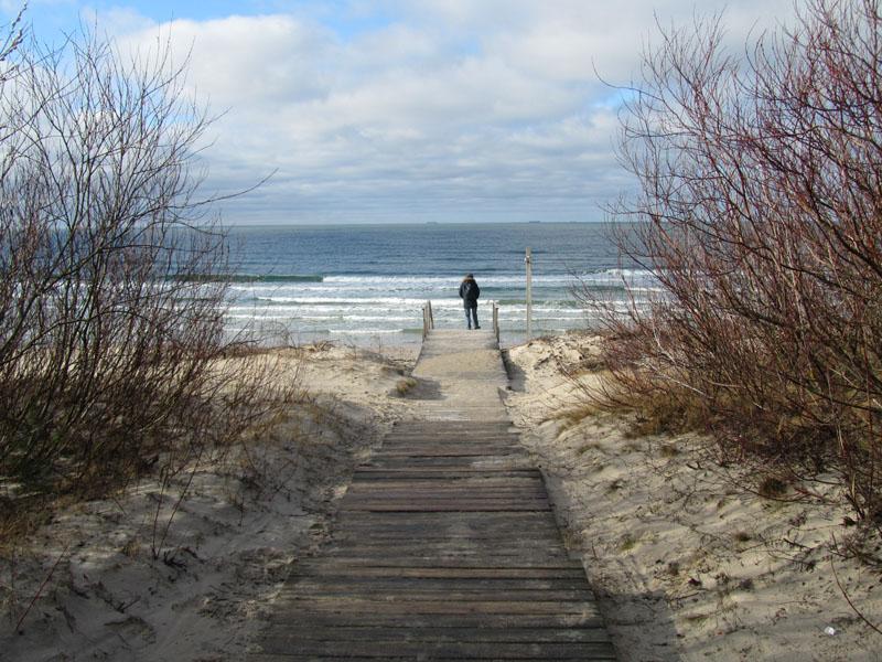Дорожка к пляжу на куршской косе, Клайпеда, Балтийское море