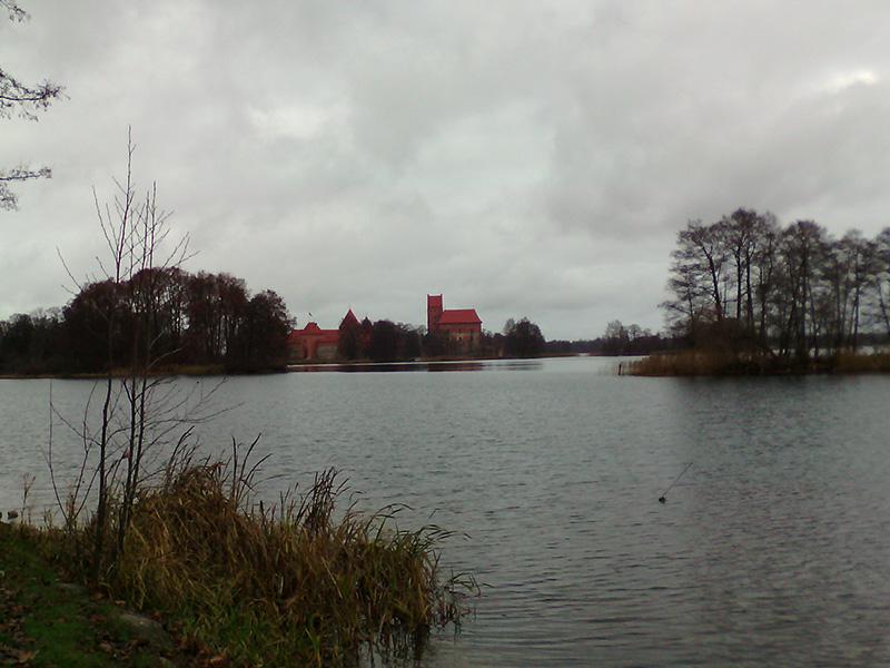 Озеро Гальве и Тракайский замок