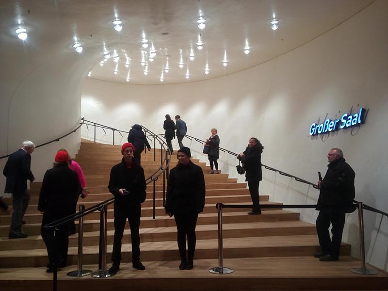 Вход в зал филармонии Elbphilharmonie