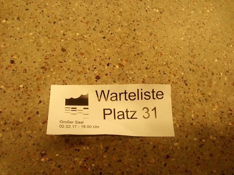 Waiting tickets: отдельно выдается на каждый концерт