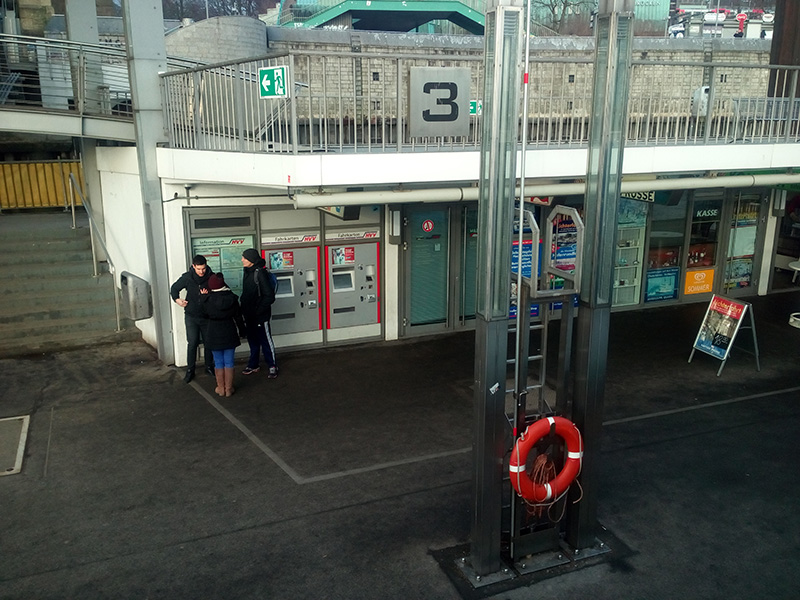 Автомат по продаже билетов на причале